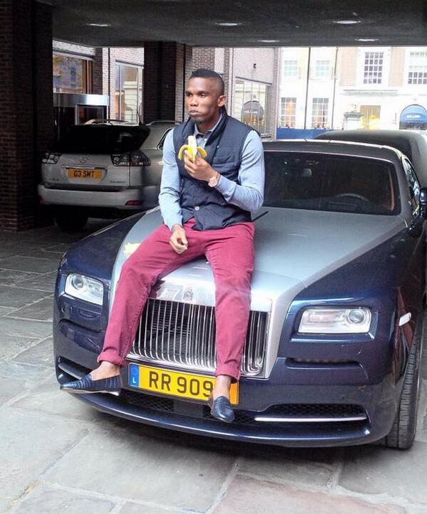 Samuel Eto'o's Rolls-Royce Wraith