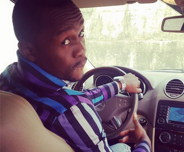 Ushbebe behind the wheel