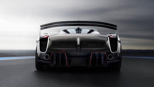 the FXX-K's exhaust