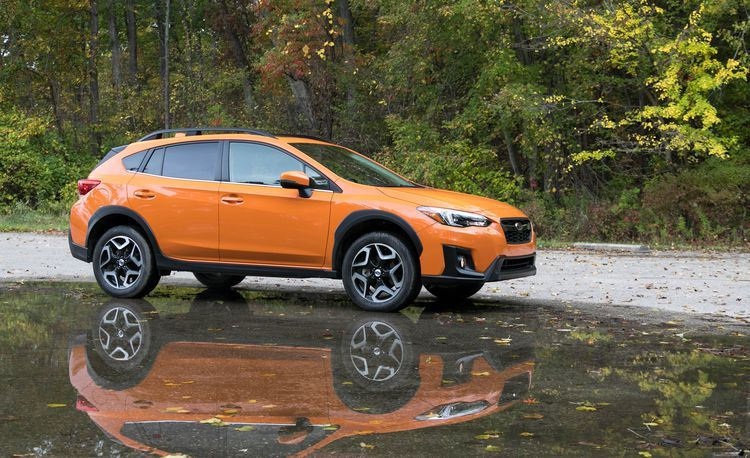 An orange Subaru Crosstrek