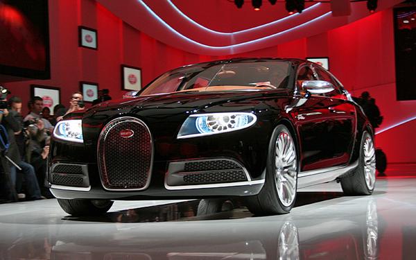 Bugatti 16C Galibier at a Motor Show