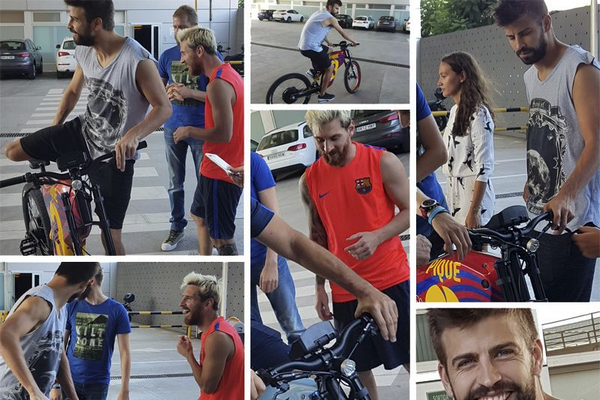 Gerard Pique and Messi playing with Grayp G12H