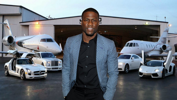 Picture of Comedian Kevin Hart and his car collection