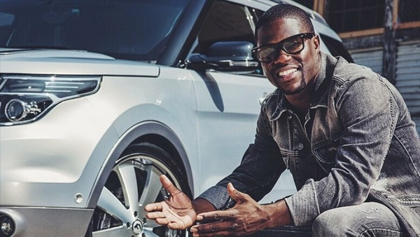 Picture of Kevin Hart and his car