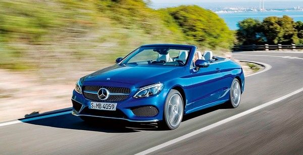 C-Class cabriolet on the road