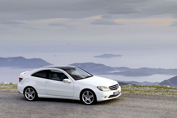 a white Mercedes clc-class pictures