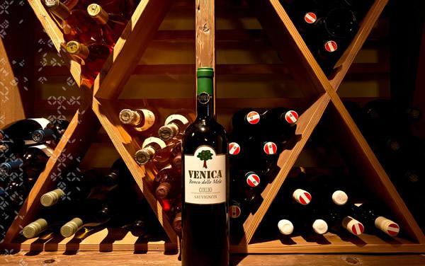 a bottle of Alpina wine