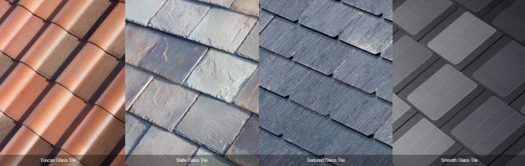 some Tesla's roof tiles model