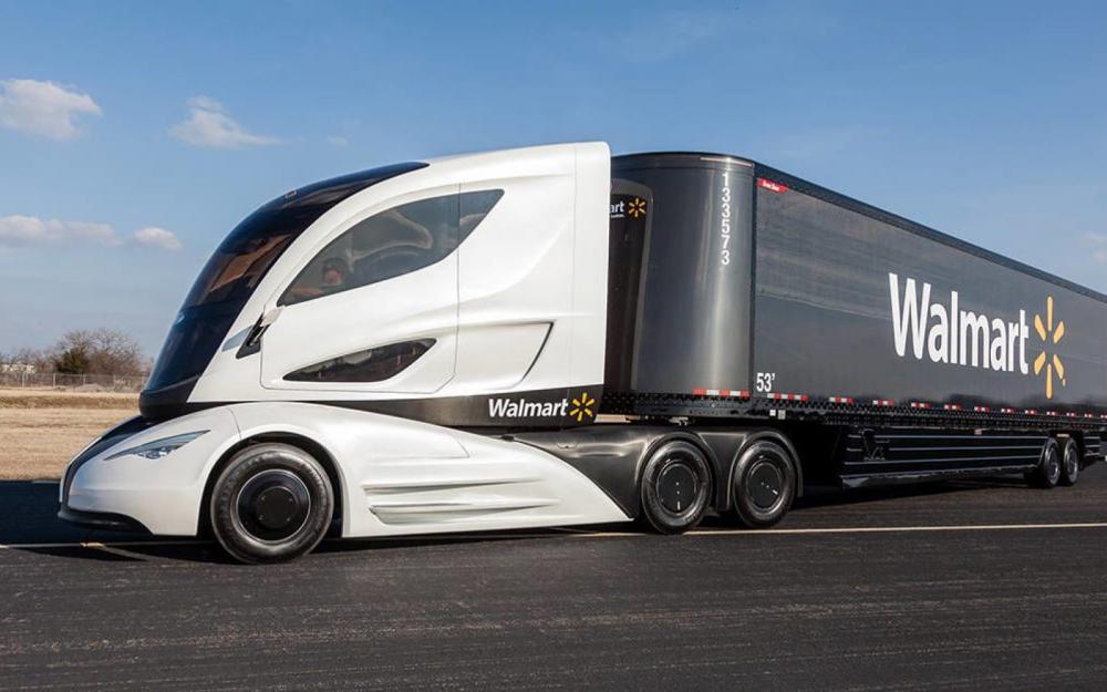 a Tesla Semi on road