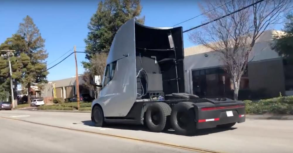 A Tesla Semi without the trailer