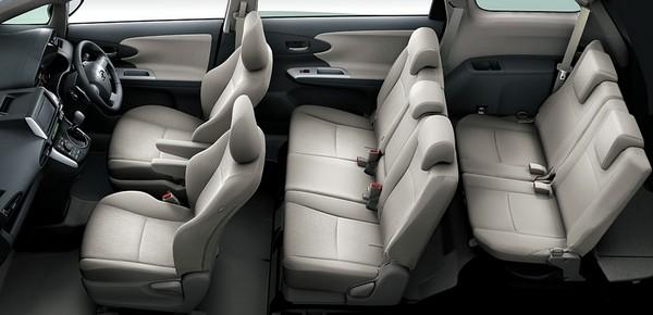Toyota Wish seat arrangement