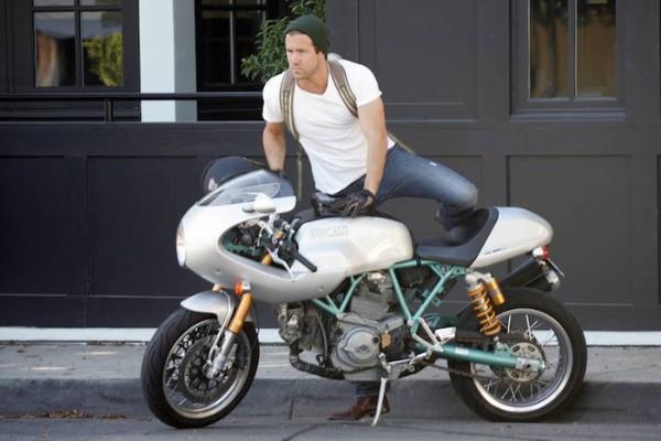 Ryan Reynolds and his Ducati PaulSmart 1000 LE