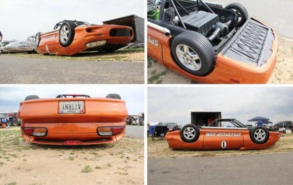 the upside-down Camaro from all angles