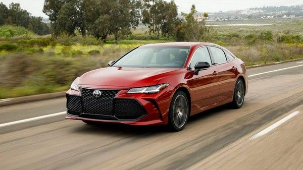 a red 2019 Toyota Avalon