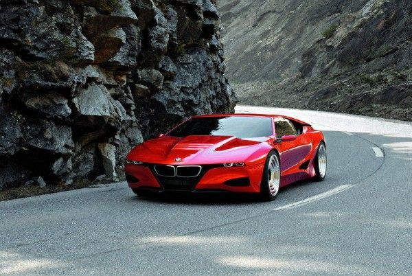 a BMW M1 Hommage  on the road