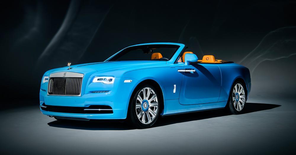 a fux blue Roll Royce