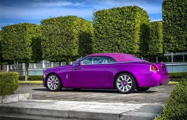 Mr. Fux's purple Roll Royce angular rear