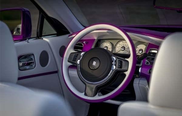 Mr. Fux's purple Roll Royce steering wheel