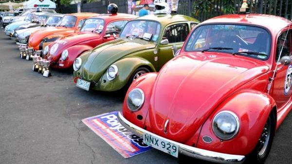 Line-up of Volkswagen Beetle