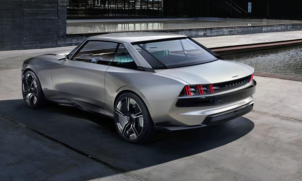 angular rear of the Peugeot e-Legend