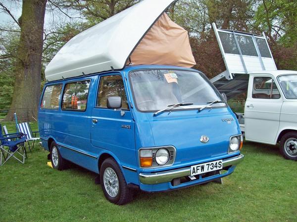 a Toyota HiAce camper van