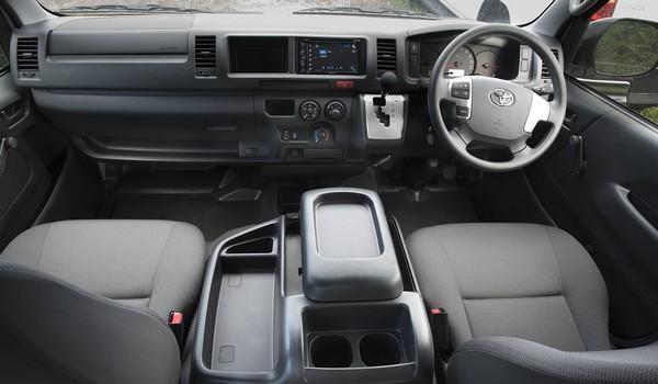 Toyota HiAce inside cabin