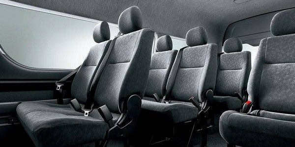 interior design of Toyota HiAce