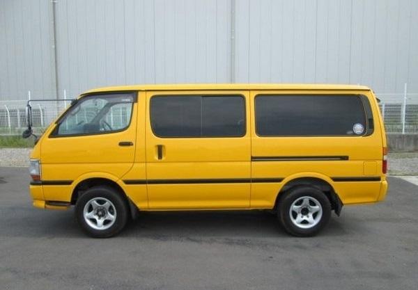 yellow Toyota HiAce 1996