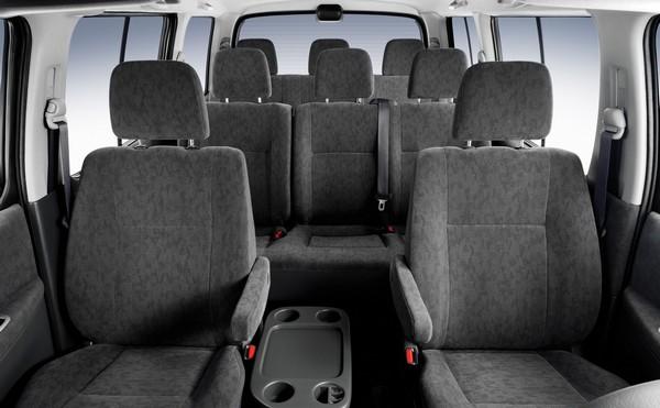 seat arrangement inside Toyota HiAce