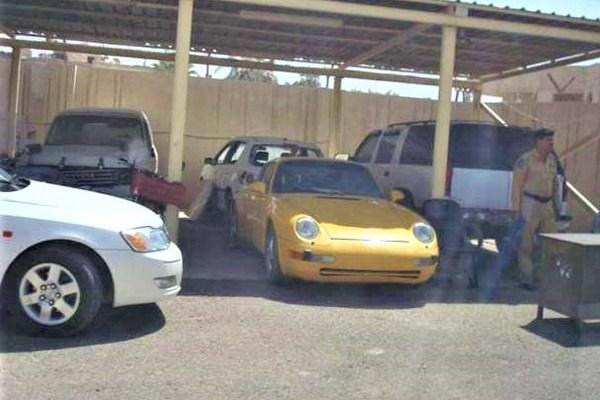 car garage of Uday Saddam Hussein