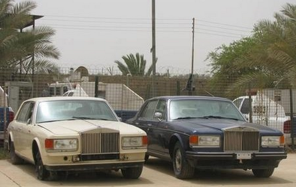 2 vintage Rolls-Royces in Uday Saddam Hussein's collection