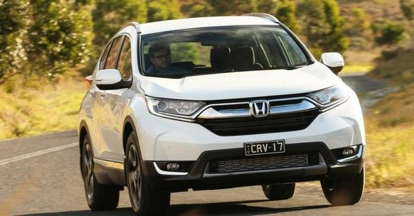 a white Honda CR-V front look