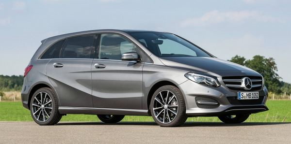Angular front of the Mercedes-Benz B-Class