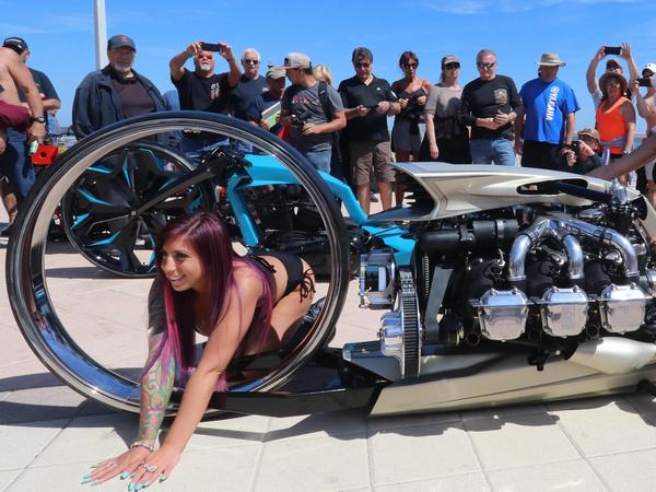 the TMC DUMONT showcased at the 77th Daytona Beach Bike Week in Florida