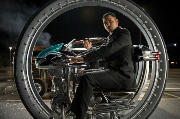 Will Smith in the futuristic motorbike in Man in Black