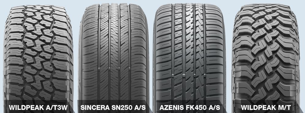 4 different types of tires
