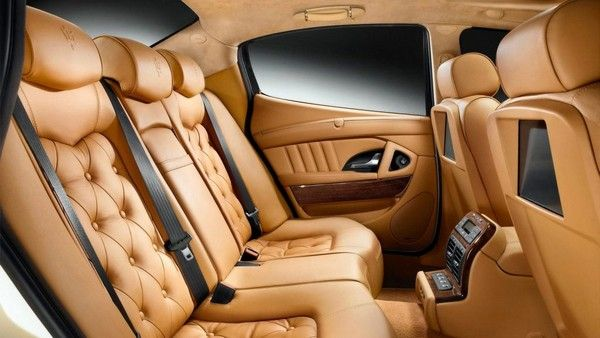 leather interiors inside a car