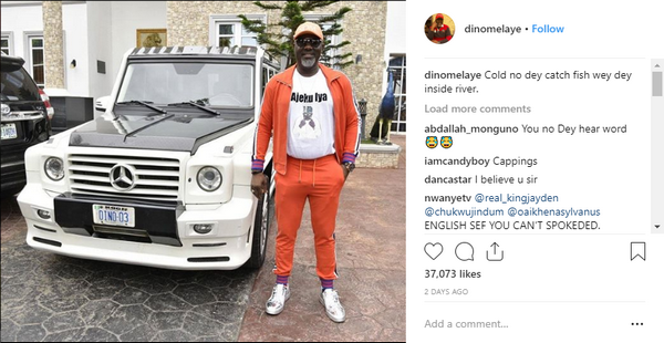 Dino Melaye's post on the arrival of his Mercedes-Benz G55 Mansory