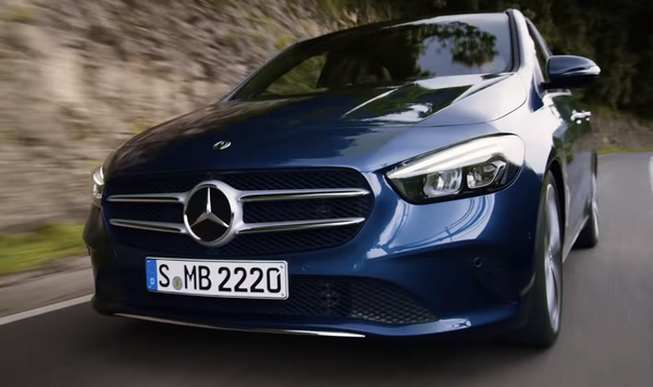 The Mercedes-Benz B-Class 2019 running on roads
