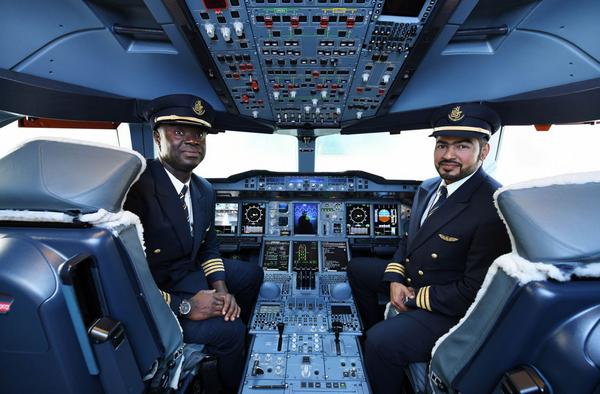 Captain Solomen Quainoo Nana and pilot Faisel Alhammadi