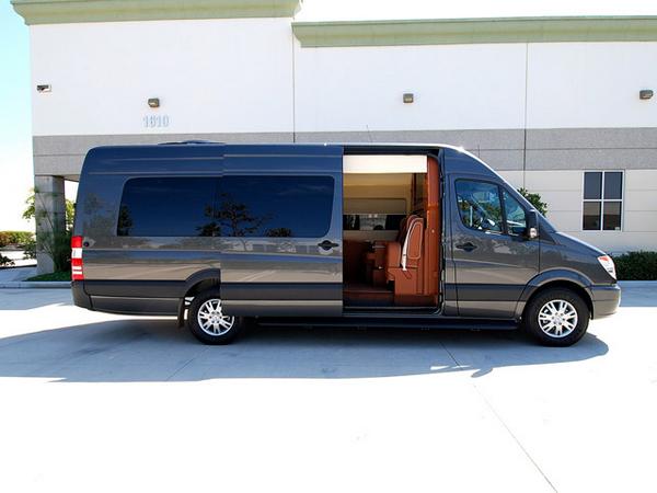 Side of the Mercedes-Benz Sprinter Limousine Van