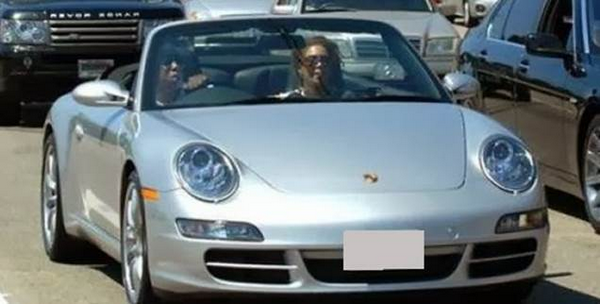 American Rapper Jay-Z and Beyonce is their Porsche 911 Carrera Cabriolet