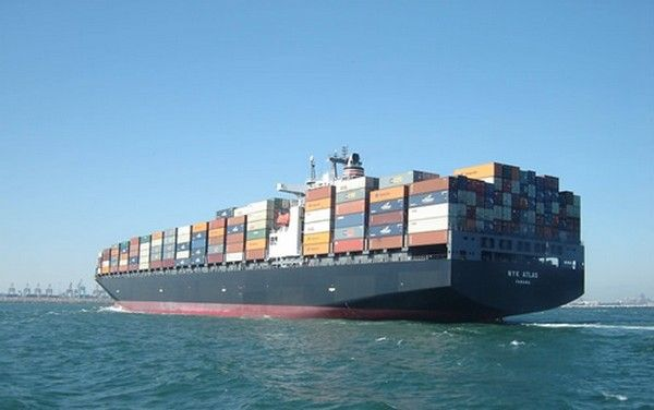 a ship delivering cars overseas