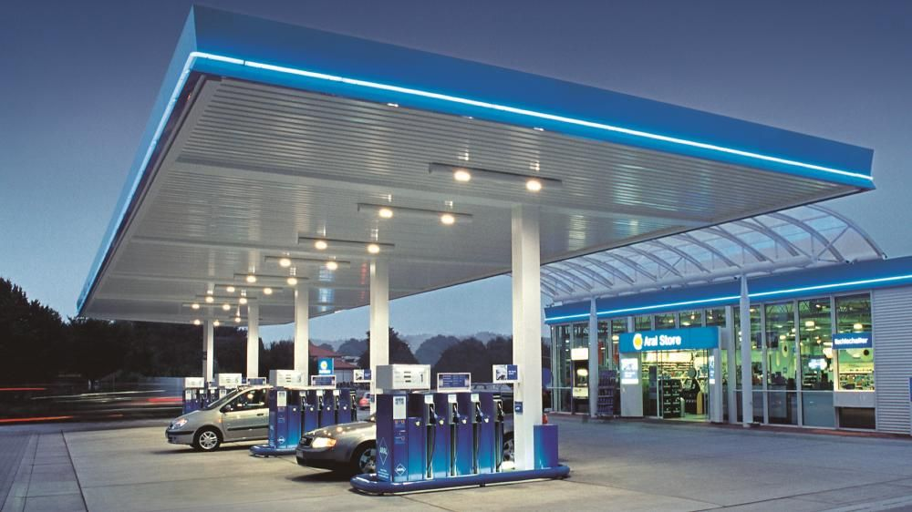 an empty fuel station
