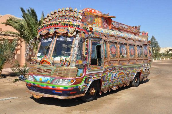 a decorative Suzuki minibus in Pakistan