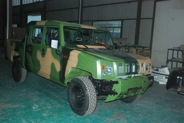 Angular front of a Innoson pickup for the NIgerian Army