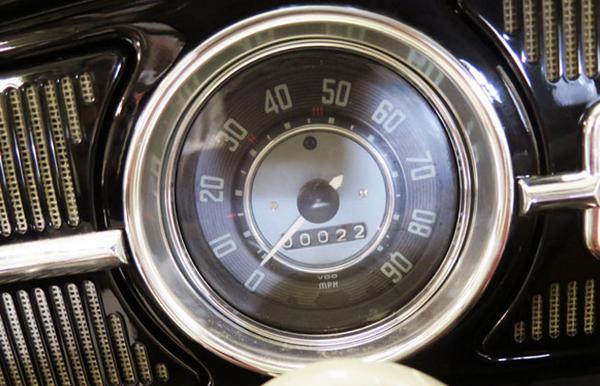 Odometer of the 22-mile 1964 Volkswagen Beetle