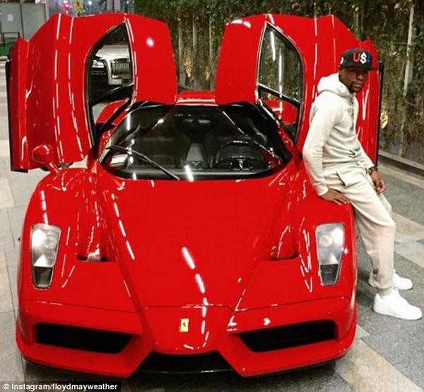 Ferrari Enzo of boxer Floyd Mayweather