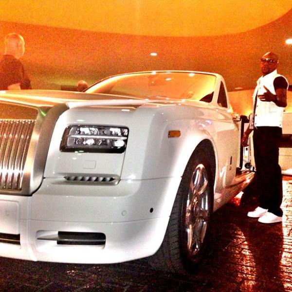 Rolls Royce Phantom Limousine of boxer Floyd Mayweather