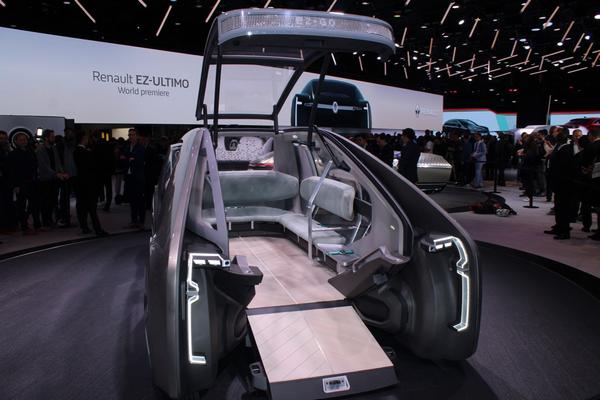 The Renault EZ-ULTIMO concepts showcased at 2018 Paris Motor Show